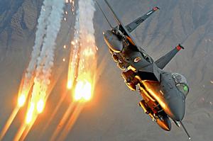 F15 over Afghanistan, Dec. 2008. (U.S. Air Force photo.)